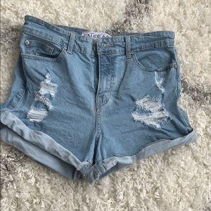 Fashion Nova high rise jeans shorts